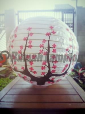 Lampion Bola Motif Jepang Sakura