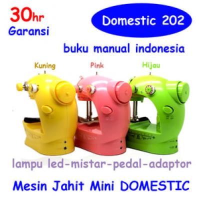 Mesin jahit mini DOMESTIC 202 NEW COLOR