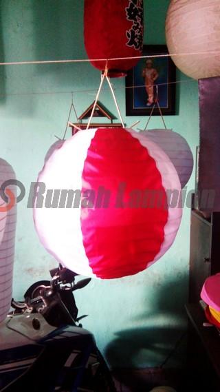 Lampion Bulat Merah Putih