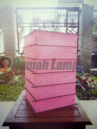 Lampion Jepang Bambu Luar Pink